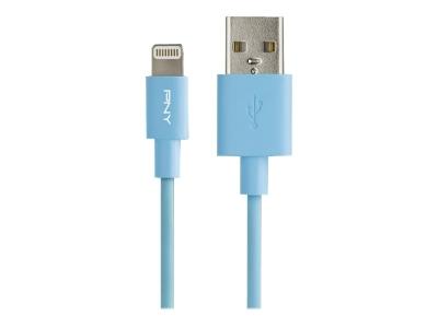 PNY Kabel Apple Lightning  1.2m Blue