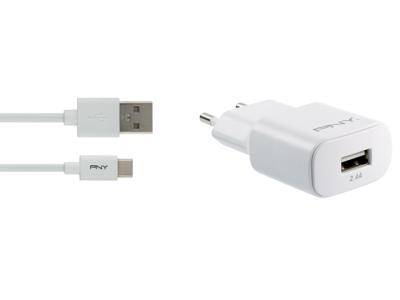 PNY USB-C Vegglader 2.4A m/kabel